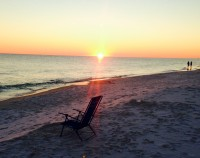 Enjoy Great Sunsets at our Private Beach !