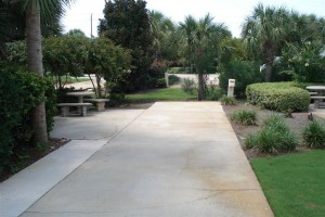 Large 60' sites with patio